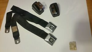 1969 1970 1971 Oldsmobile Cutlass 442 Chevelle Ss Deluxe Black Seat Belts Front