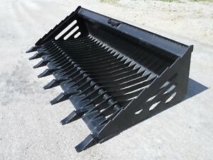 Bobcat Skid Steer Attachment 80 Rock Skeleton Bucket With Teeth Ship 149