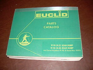 Euclid Volvo 91 Fd R15 R18 Tractor Truck Hauler Parts Catalog Manual
