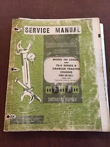 International Nissan 150 Td 9 9 Series Crawler Dozer Service Manual 1970