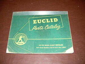 Euclid Volvo 49 Fd 5152 Tractor Truck Hauler Parts Catalog Manual