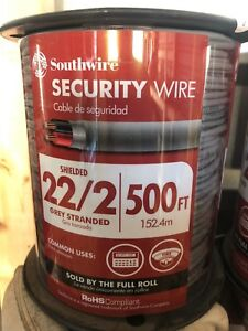 Southwire 22 2 Grey Stranded Spool Security Wire 500 Lot Of 2 Spools