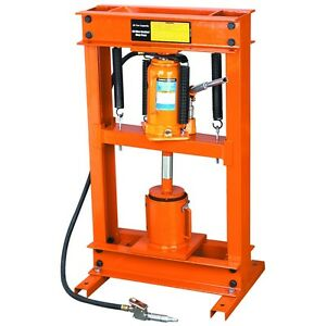 20 Ton Air Hydraulic Shop Press W Oil Filter Crusher