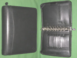 Classic 1 5 Black Full Grain Nappa Leather Franklin Covey Planner Binder 4274