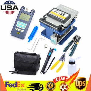 10in1 Fiber Optic Ftth Tool Kit Fc 6s Fiber Cleaver Optical Power Meter Test Pen