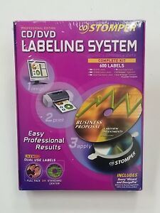 Stomper Professional Edition Cd Dvd Labeling System Complete Kit 600 Labels New