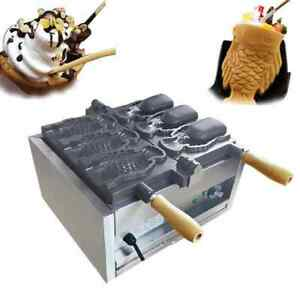 Three Holes Fish Type Waffle Machine electric Open Mouth Taiyaki Maker Fryer T