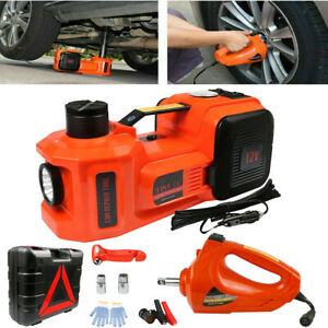 5 Ton Electric Hydraulic Floor Jack Lift electric Impact Wrench Car Van Us Stock