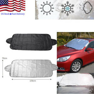 Us Car Windshield Cover Anti Shade Frost Ice Snow Protecting Uv Fading Car Cover