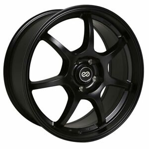 Enkei Wheels Rim Gt7 16x7 4x100 Et38 72 6cb Black Paint