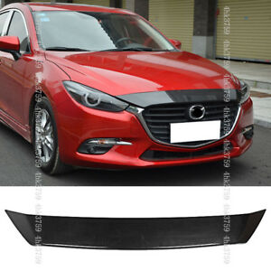For Mazda 3 Axela 2017 18 Abs Carbon Fiber Pattern Front Engine Hood Cover Trim