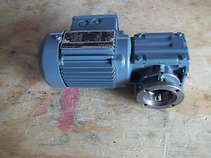 New Sew eurodrive Spirolan Right Angle Gearmotor Type Waf10 Dt56l4 Ratio 8 2 1