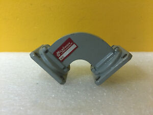 Microwave Associates Ma636 8 2 To 12 4 Ghz 1 7 L 90 H Bend Waveguide