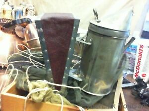 Vintage Bee Keepers Smoker With Bellows Hand Pump