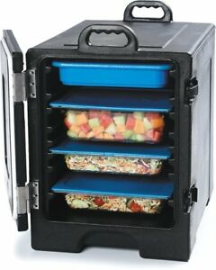 Carlisle Cateraide Hot cold Insulated 6hr Food Warmer 5 Pan Storage Black Cambro