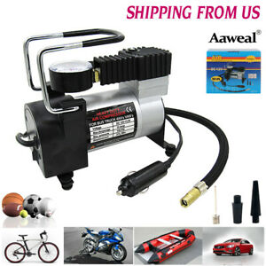 Heavy Duty 12v Car Tire Inflator Pump Air Compressor Rv Truck 4x4 Portable