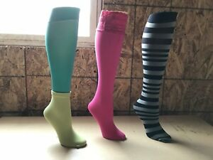 3 Vintage Mannequin Legs Calves Shoe Form Store Display Foot Plastic Stocking