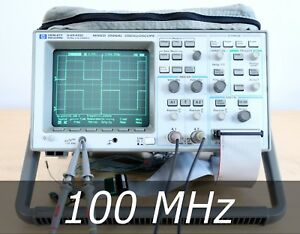 Hp Agilent 54645d 2 16 Channel Mixed Signal Scope A D Probes Very Clean