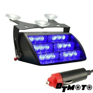 18x Blue Led Firefighter Ems Flashing Emergency Dash Warning Strobe Lights New
