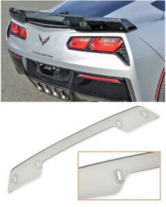 For 14 19 Corvette C7 Z06 Stage 3 Style Light Tinted Rear Wickerbill Spoiler