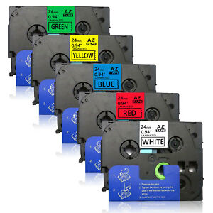 5pk Tze251 751 24mm Label Tape Compatible For Brother P touch Pt 9700pc P950w