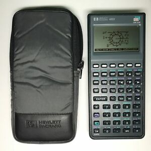 Hp 48gx Graphing Calculator With Case