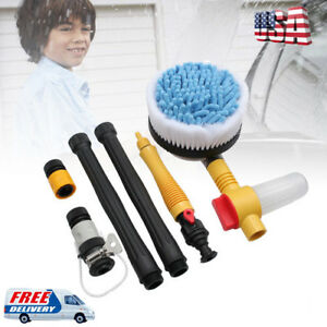 1885psi Car Vehicle Rotating Washing Brush Wash Cleaning Sponge Cleaner 130bar