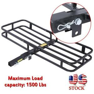 53 X 34 Folding Cargo Luggage Carrier Basket Rack Truck Suv 2 Receiver Hitch