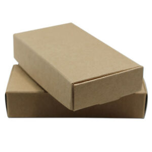 Christmas Day Brown Kraft Paper Box Wedding Party Candy Jewelry Gifts Pack Boxes