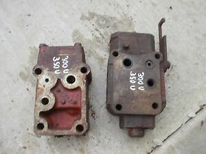 International 300 350 Utility Tractor Hydraulic Control Valve Blocks Beside Seat