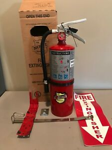 New 2019 buckeye 5 lb Abc Fire Extinguisher With Vehicle Bracket