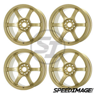 4x Gram Lights 57dr 18x9 5 38 5x114 3 Gold Set Of 4 Wheels Wrx Sti