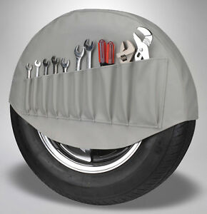 Vw Spare Tire Cover Tool Holder Organizer Gray 1950 1977 Volkswagen Beetle