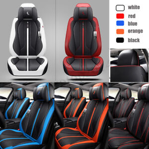 Deluxe 6d 5 Sits Seat Car Cover Cushion Protector Surround Breathable Leather