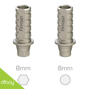 10 X Straight Temporary Titanium Abutment For Nobel Active Np Dental Implants