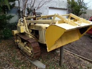 Oliver Oc 3 1950s Crawler Loader Tractor Bulldozer Antique Ware Machine Works