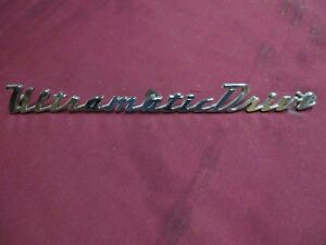 1950 Packard Ultramaticdrive Trunk Script