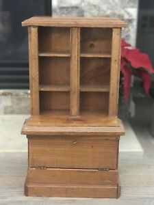 Antique China Hutch For 18 Inch Dolls Dollhouse Or Miniatures