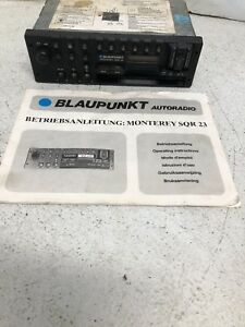 Porsche 911 928 944 Blaupunkt Monterey Sqr 23 Sqr23 Stereo Radio With Manual