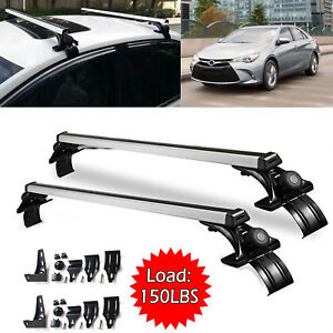 Car Roof Bar Crossbar Rack Cargo Luggage Load Capacity 150lbs For Toyota Camry
