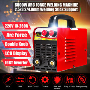 220v 250a Mma Electric Welding Machine Lcd Display Igbt Welder Arc Force Control