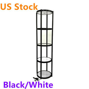Us Stock 81 Round Portable Aluminum Spiral Tower Display Case With Shelves