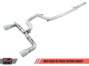 Awe Tuning Ford Focus Rs Track Edition Cat Back Exhaust Diamond Black Tips