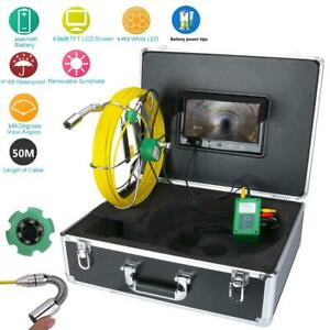 9 lcd 50m Pipe Inspection Video Camera 1000 Tvl Led Waterproof Drain Pipe Sewer
