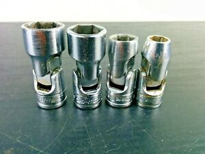 ac533 Snap On 4pc 3 8 Drive 6 pt Sae Swivel Socket Set 5 16 7 16 9 16 5 8