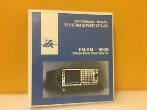 Ifr 1002 8600 400 Fm Am 1600s Communications Service Monitor Parts Catalog