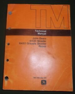 John Deere 640d 648d Grapple Skidder Technical Service Repair Manual Tm1440