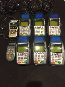 Lot Of 6 Omni 3740 Verifone Terminals 2 Bonus Mobile Readers Store Closing