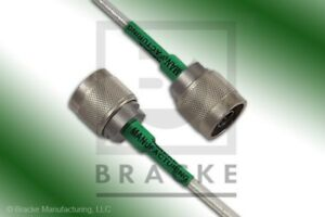 18 Ghz N Male Flexible Cable Assembly Bracke Bm95001 108 108 Inches