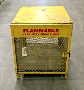 Forklift Propane Tank Storage Cage 36 X 32 Marked Flammable